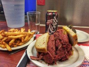 Famous Schwartz's Smoke Meat Sandwich