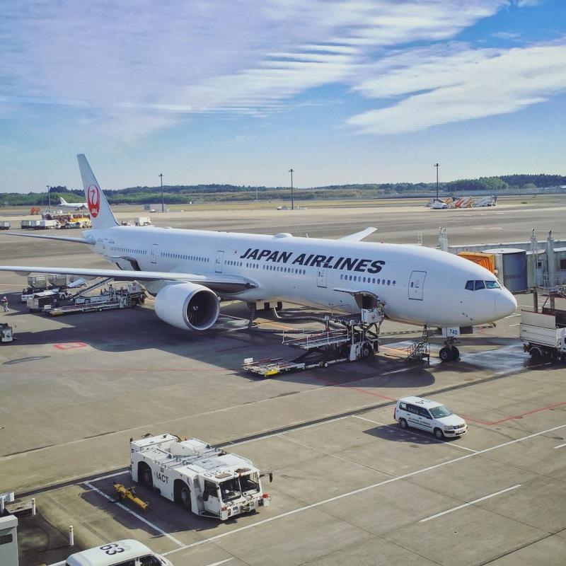 JAL 777-300ER Parked at Narita Airport